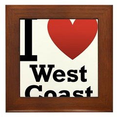 I Love West Coast Framed Tile