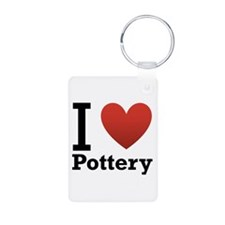 I Love Pottery Keychains