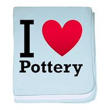 I Love Pottery baby blanket