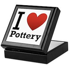 I Love Pottery Keepsake Box