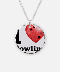 I Love Bowling Necklace