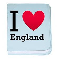 I Love England baby blanket