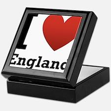 I Love England Keepsake Box