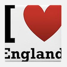 I Love England Tile Coaster