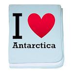 I Love Antarctica baby blanket