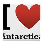 I Love Antarctica Tile Coaster