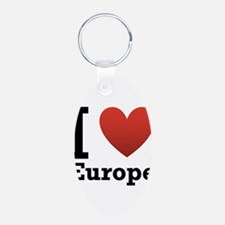 I Love Europe Keychains