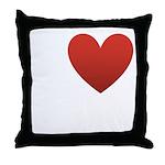 I Love Austin Throw Pillow