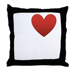 I Love My Family Throw Pillow