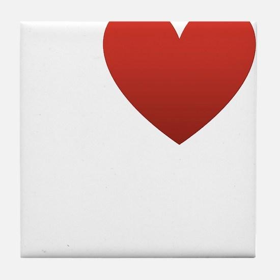 I Love My Husband Tile Coaster