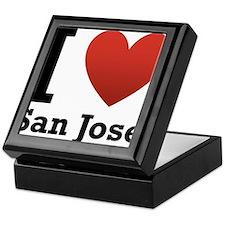 I Love San Jose Keepsake Box