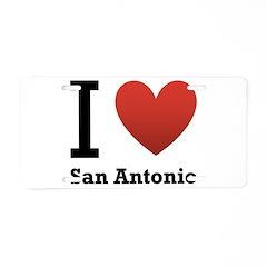 I Love San Antonio Aluminum License Plate