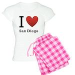 I Love San Diego Women's Light Pajamas