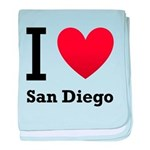I Love San Diego baby blanket