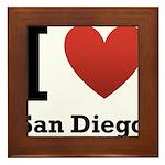 I Love San Diego Framed Tile