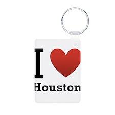 I Love Houston Keychains