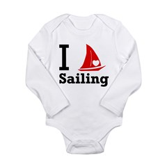 I Love Sailing Long Sleeve Infant Bodysuit