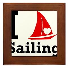 I Love Sailing Framed Tile
