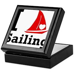I Love Sailing Keepsake Box