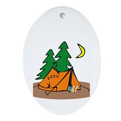 Happy Camper Ornament (Oval)