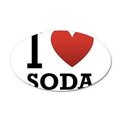 I Love Soda 38.5 x 24.5 Oval Wall Peel