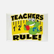 Teachers Rule Rectangle Magnet