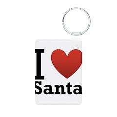 I Love Santa Keychains