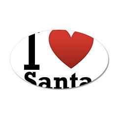I Love Santa 22x14 Oval Wall Peel