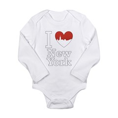I Love New York Long Sleeve Infant Bodysuit