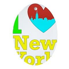 I Love New York Ornament (Oval)