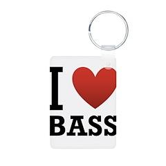 I Love Bass Keychains