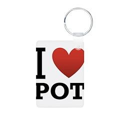 I Love Pot Keychains