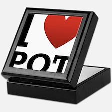 I Love Pot Keepsake Box