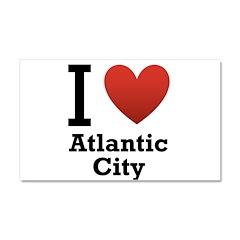 I Love Atlantic City Car Magnet 20 x 12