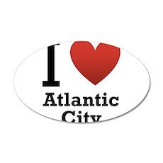 I Love Atlantic City 22x14 Oval Wall Peel