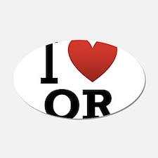 I Love Oregon 22x14 Oval Wall Peel