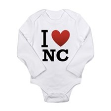 I Love North Carolina Onesie Romper Suit