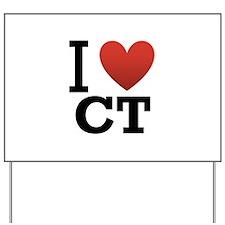 I Love CT Yard Sign