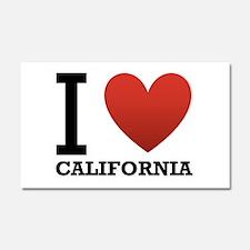 I Love California Car Magnet 20 x 12