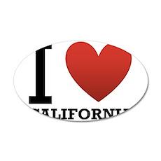 I Love California 22x14 Oval Wall Peel