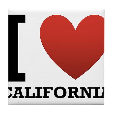 I Love California Tile Coaster