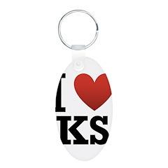 I Love Kansas Keychains