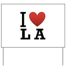 I Love LA Yard Sign