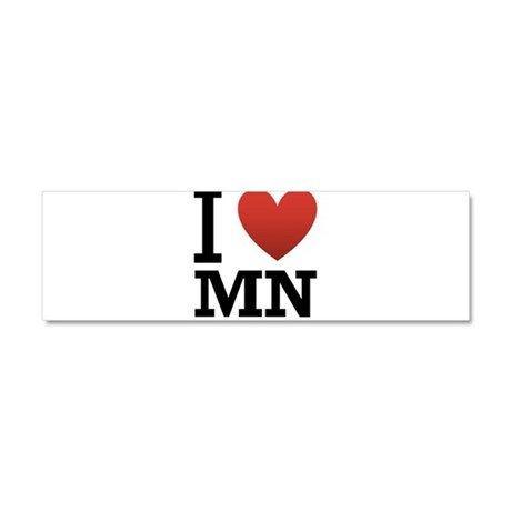 I Love Minnesota Car Magnet 10 x 3