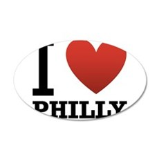 I Love Philly 22x14 Oval Wall Peel