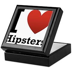 I Love Hipsters Keepsake Box