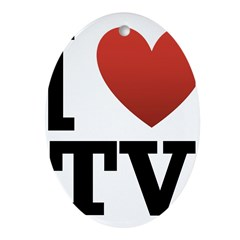 I Love TV Ornament (Oval)