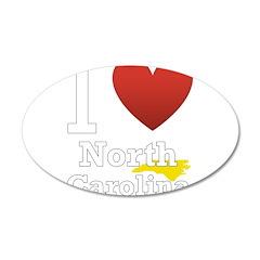 North Carolina 38.5 x 24.5 Oval Wall Peel