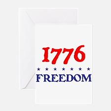 1776 FREEDOM Greeting Card