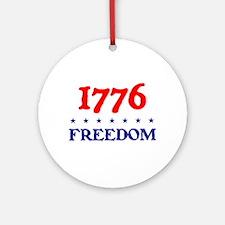 1776 FREEDOM Ornament (Round)